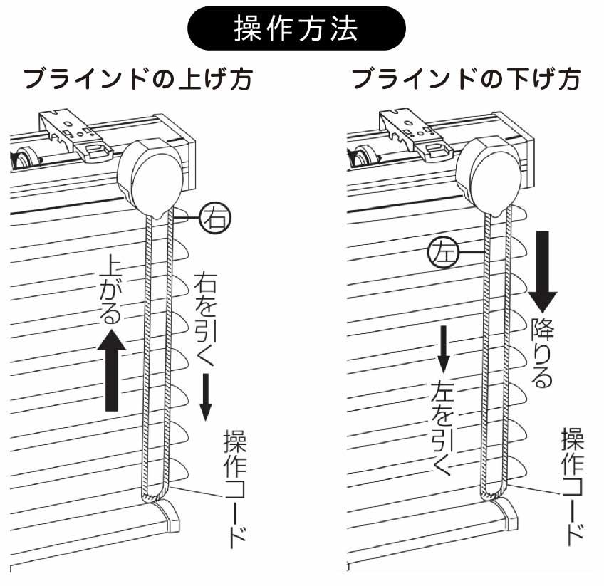 ブラインドの操作方法 ワンコントロール式