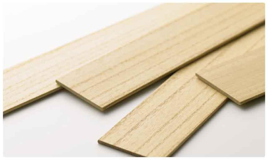 桐のウッド(木製)ブラインド羽根拡大