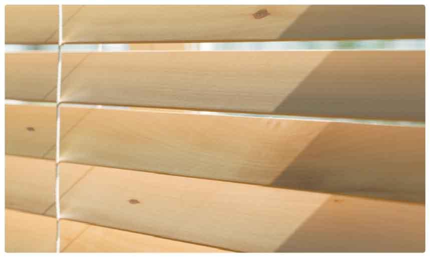 自然の木そのままの無垢ウッド(木製)ブラインド羽根拡大