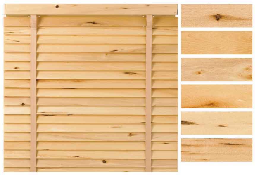 天然木を使った無垢ウッド(木製)ブラインド