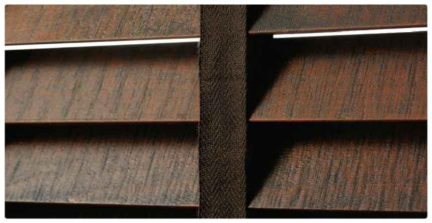 ヴィンテージウッド(木製)ブラインド羽根拡大