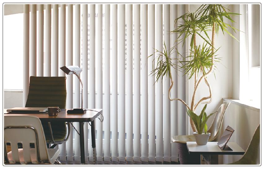 遮熱遮光1級機能付き、高性能な縦型バーチカルブラインド