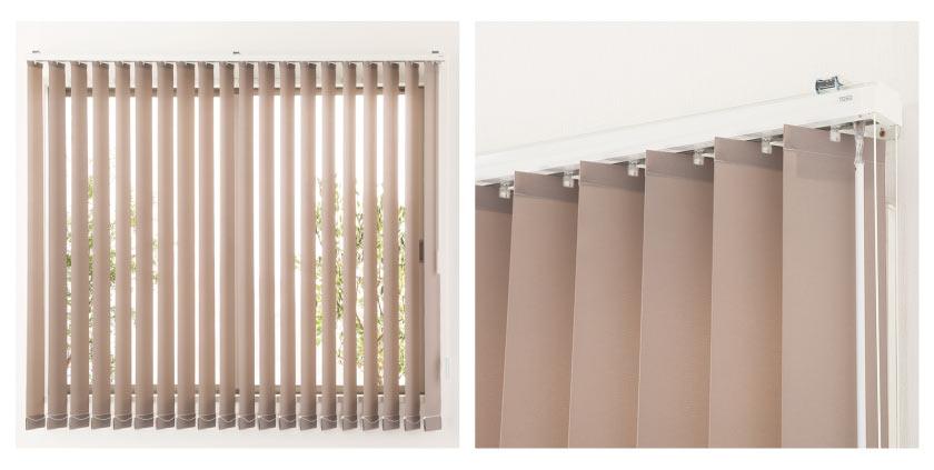 バーチカルブラインド採寸方法:窓枠外側に取り付ける正面付の測り方